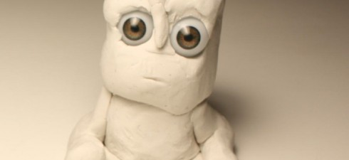 Here you can see an experimental stop motion animation, which I created using white clay on a white board and a pair of miniature glass eyes. Please enjoy